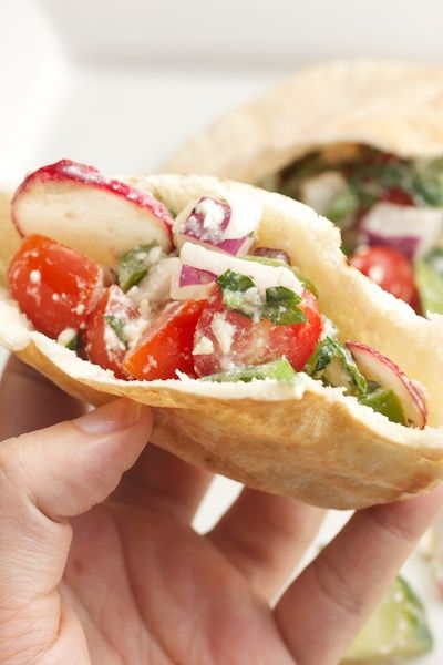 Greek Salad Pita Sandwiches | sandwiches | Pinterest