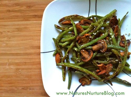 Easy Roasted Green Beans & Mushrooms {Meatless Mondays} : Nature's ...