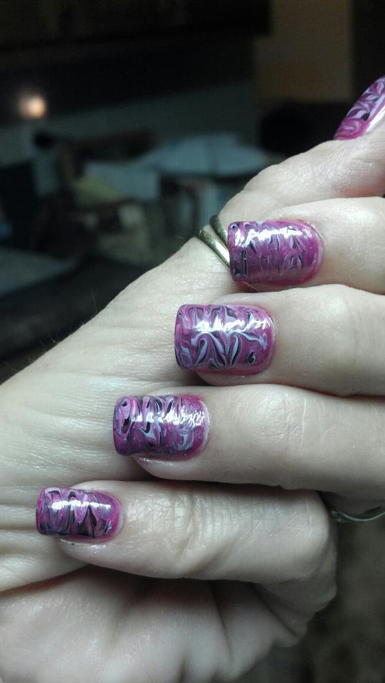 Marbling without water  Nails  Pinterest