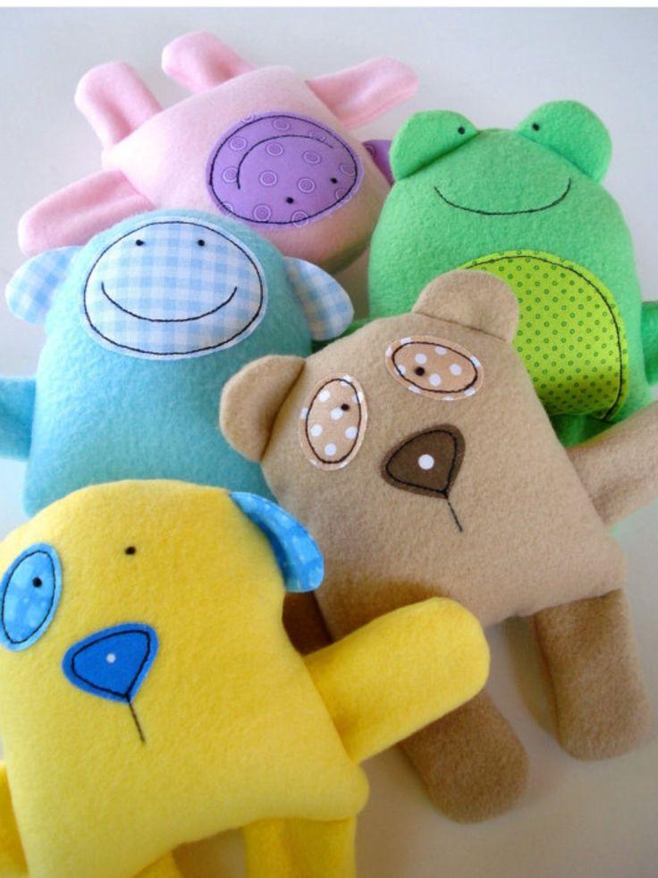 Забавные игрушки из флиса своими руками