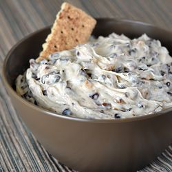 Cookie Dough Dip - made with chocolate chips, toffee bits, and NO raw egg, so it's perfectly safe to eat. Indulge away!