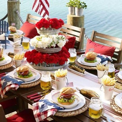 4th of july table centerpieces
