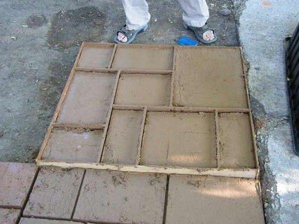 Как самому сделать форму для тротуарной плитки