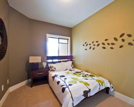 Bedroom Plain Wall Minimalist Concept Bedroom Interior With Minimalist Small Decoration With Brown Wall