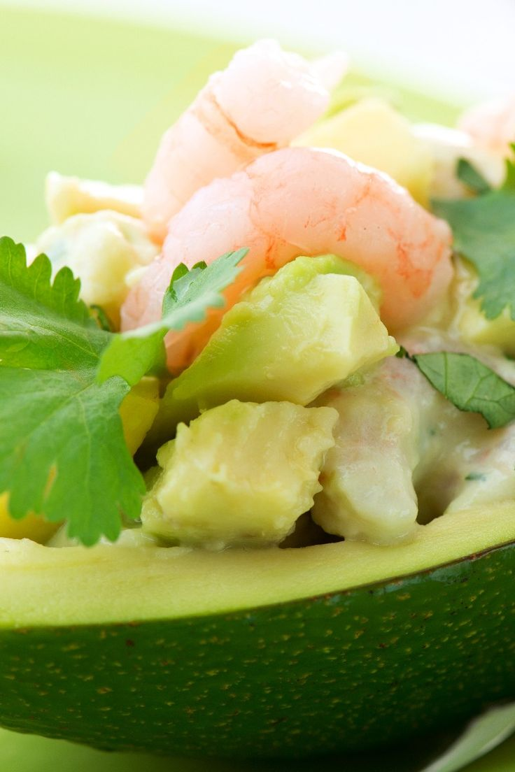 Seafood Stuffed Avocados with Crab, Shrimp & Cucumber #Recipe