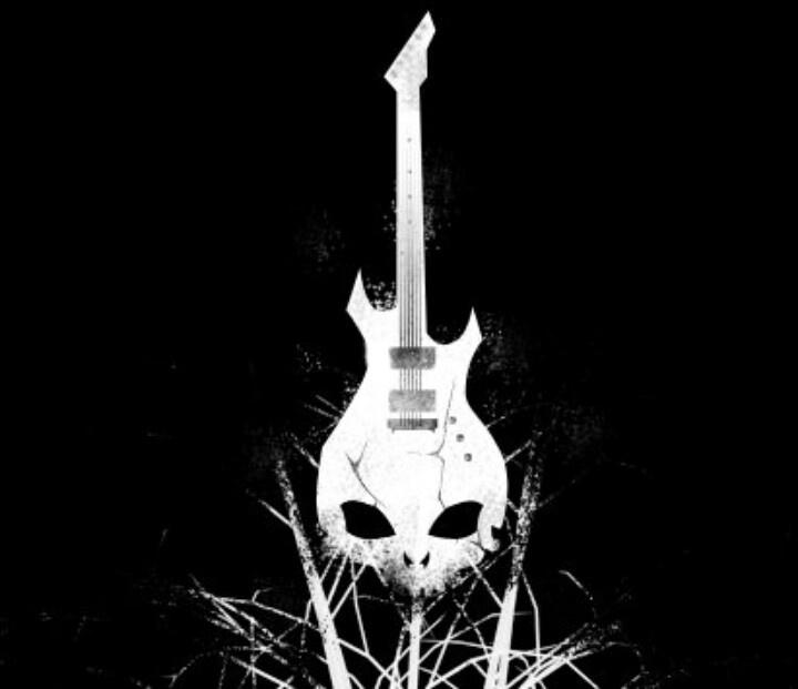 Electric skull wallpaper