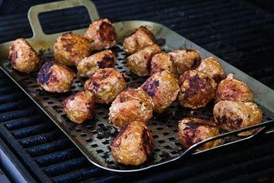 Recipe for Grilled Sriracha-Sesame Turkey Meatballs from Kalyn's ...