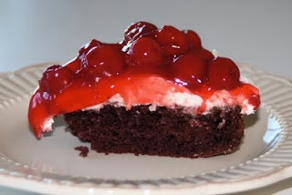 Easy Black Forest Cake - used the cream part for my other cake recipe ...