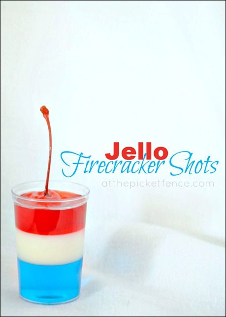 4th of july jello shots pinterest