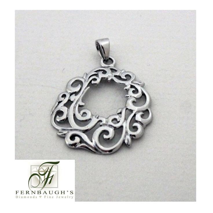 open center filigree pendant southern gates jewelry