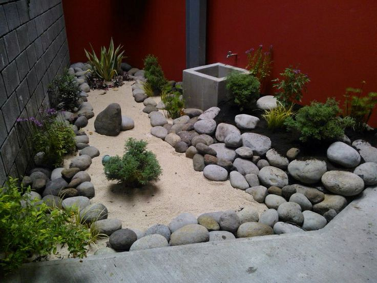Jardines secos con pierda bruta idea dejaron pinterest - Jardin con piedras ...