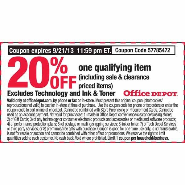 Officedepot coupon codes
