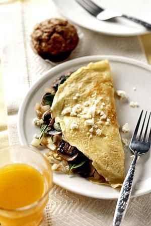 Omelet Recipes: Spinach-and-Feta Omelet | Egg Recipes | Pinterest