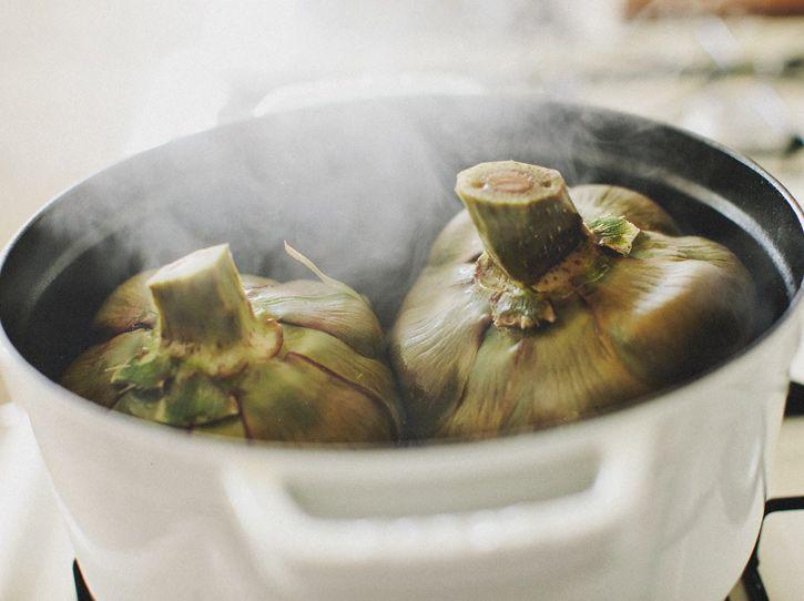 Steamed Artichokes Recipe — Dishmaps