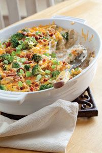 loaded baked potato casserole - you know it has to be bad for you!