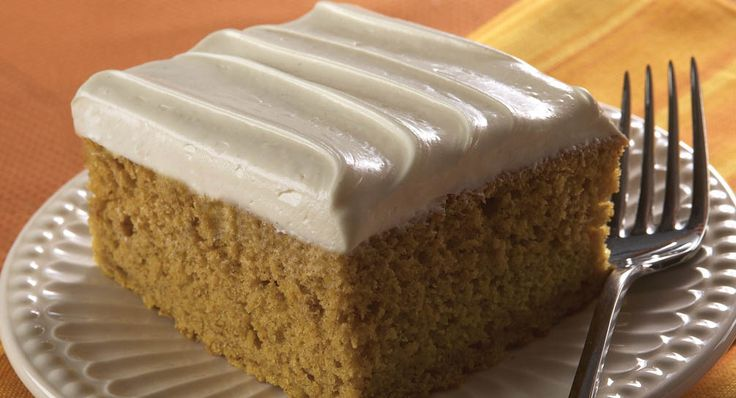 Spiced Pumpkin Cake with Spiced Cream Cheese Frosting. Recipe made ...