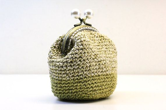 Crochet Quarter Keeper : Crochet coin purse the Golden Keeper in golden by polixeni19