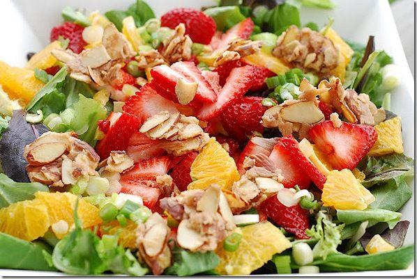 Strawberry Orange Salad with Orange Dressing