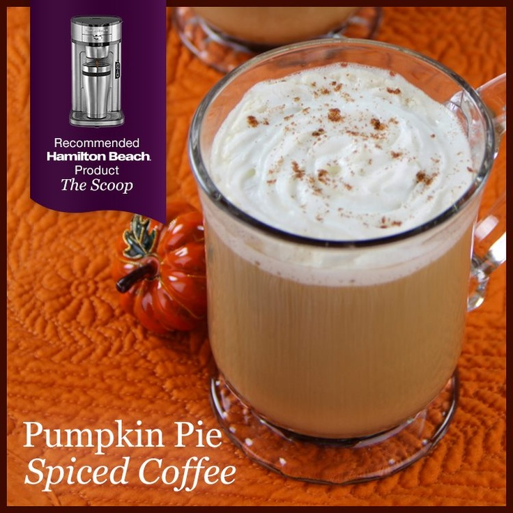 Pumpkin pie spiced coffee | Coffee Recipes and Tips | Pinterest