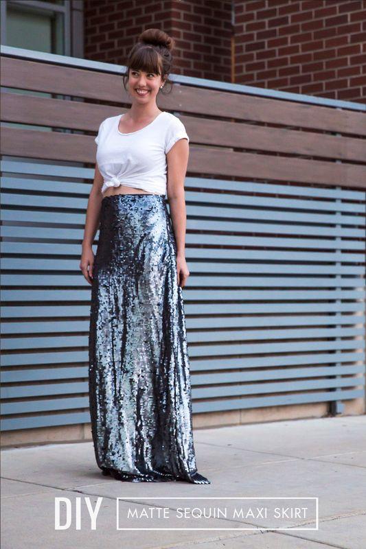 diy sequin maxi skirt diy craft kits monthly craft