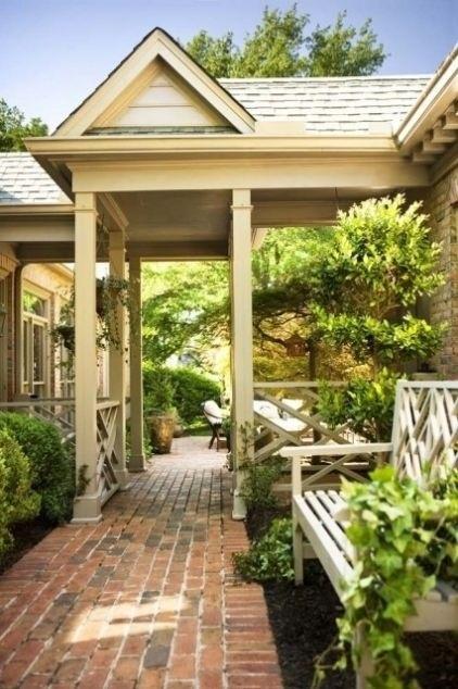 Breezeway porch inspiration pinterest for Breezeway connecting garage to house