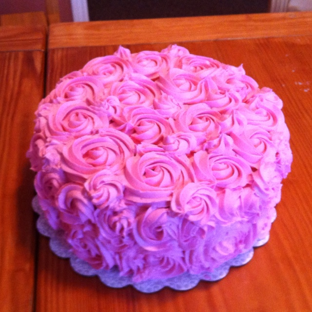 Pink rose mothers day cake food Pinterest