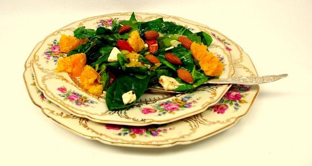 spinach orange almond amp feta salad healthy colorful amp delicious ...