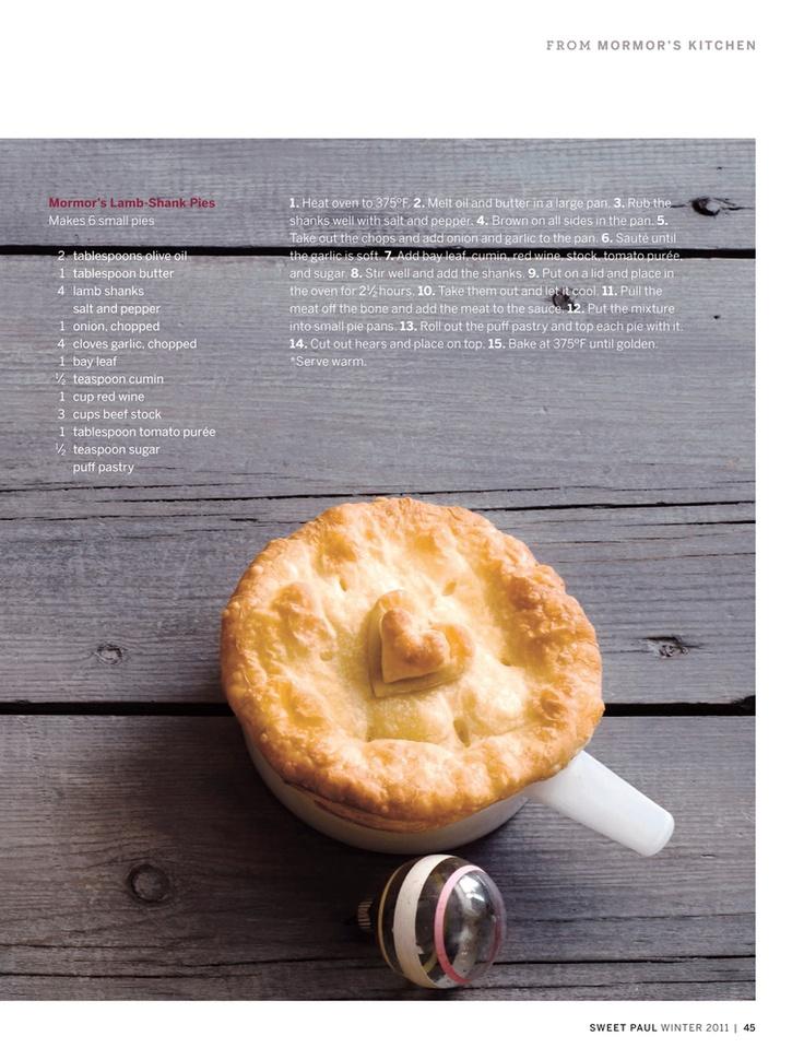 Lamb shank pies | Christmas | Pinterest