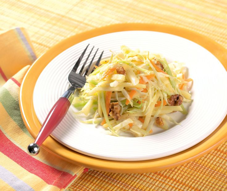 Cabbage, Apple and White Cheddar Slaw #slaw #recipe #salad #side # ...