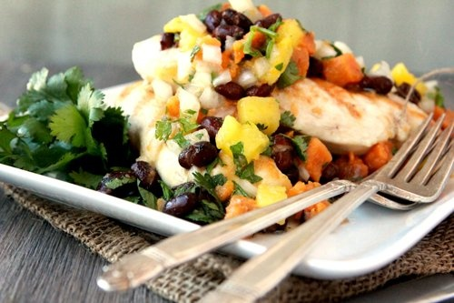 Chicken with Roasted Sweet Potato Salsa | Recipe