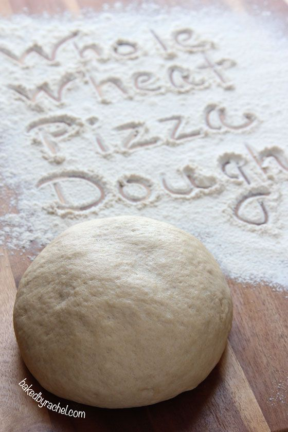 Easy Whole Wheat Pizza Dough Recipe ~ A healthier alternative with the ...
