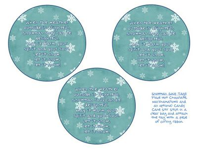 Snowman Soup Tags   Classroom Freebies!   Pinterest