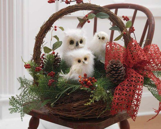 Christmas owls christmas decor pinterest for Cute christmas decorations