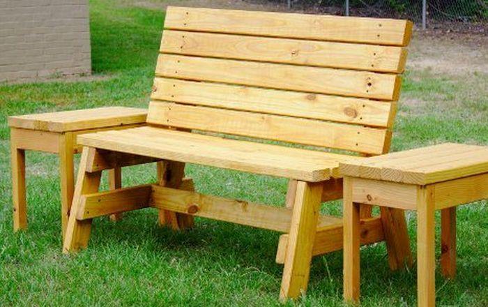 diy-garden-bench | cabin | Pinterest