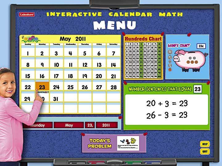 Interactive Calendar Math Program | school | Pinterest