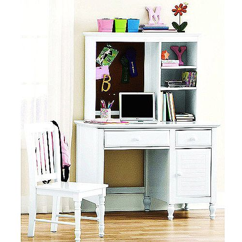 kylie collection desk with hutch and chair value bundle white kids