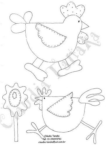 chicken applique patterns