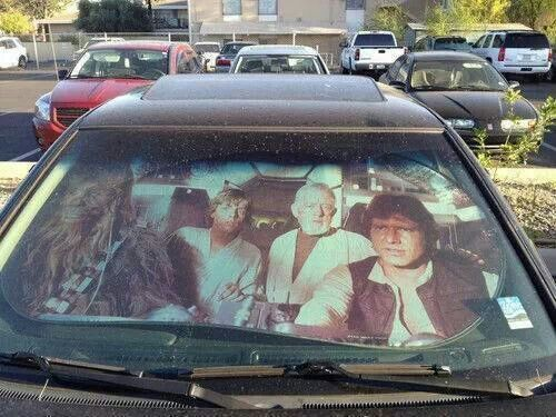 Star wars sun shield