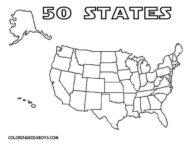 coloring pages 50 states - photo#14