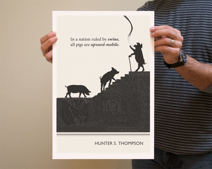 Original illustration fine art prints hunter s thompson quotation