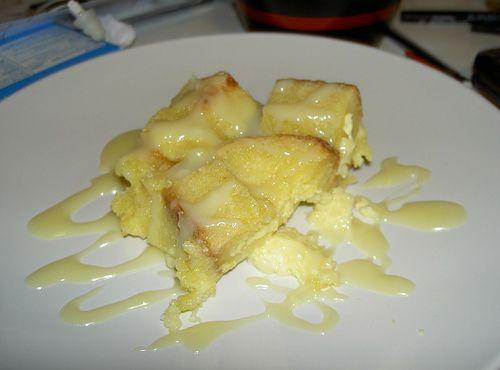 White Chocolate Bread Pudding with White Chocolate Sauce   Recipe