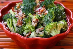 Sweet and Sour Broccoli Salad with Agave Nectar.....one of my favs ...