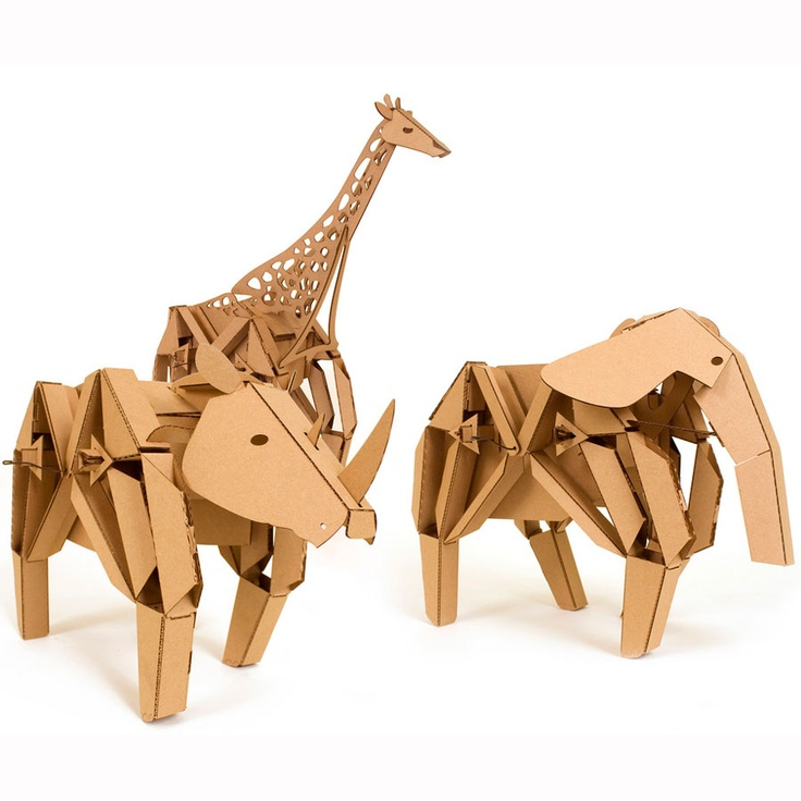 Kinetic Creatures - Herd your own laser-cut cardboard mechanical menagerie