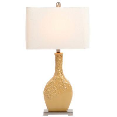 mustard ceramic table lamp kirkland 39 s home decor. Black Bedroom Furniture Sets. Home Design Ideas