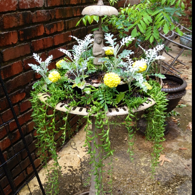 Water Fountain Flower Pot Fountians Pinterest