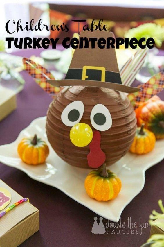 Dfp thanksgiving turkey centerpiece tessa crafts pinterest
