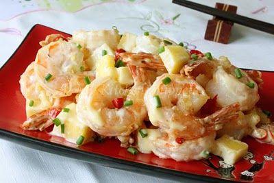 Wasabi Mayo Shrimps