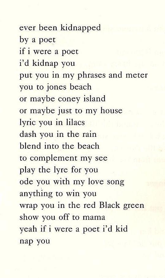 "Nikki Giovanni, ""Kidnap Poem""   Words   Pinterest"