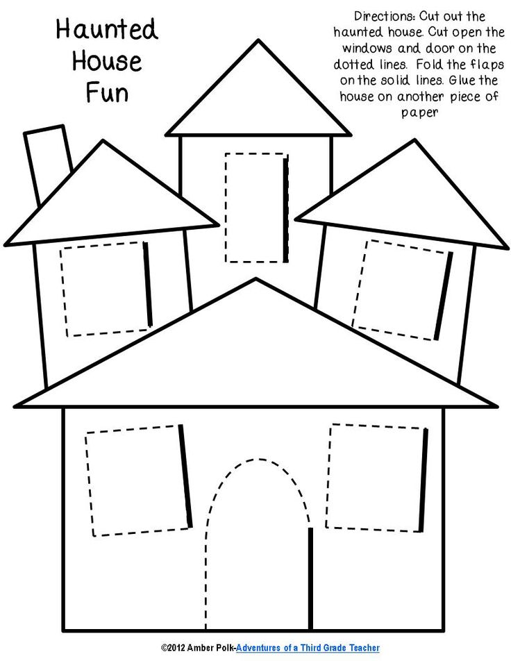 haunted house lift the flap template