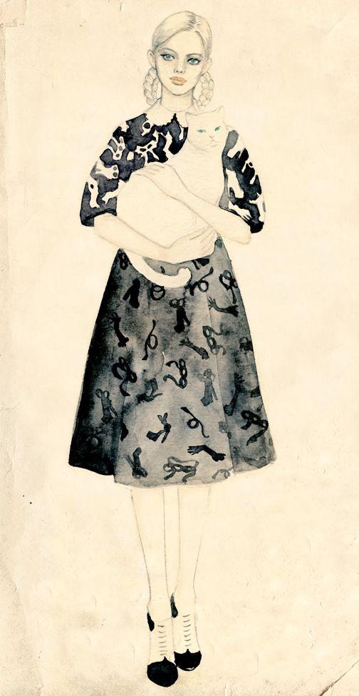 Teri Chung || fashion illustration
